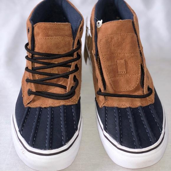 94aef2ca86b7c1 Vans SK8-Hi Del Pato MTE Ginger Navy Skate Shoes